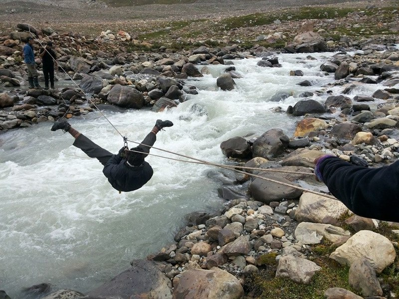 River Crossing at Parvati River Kullu