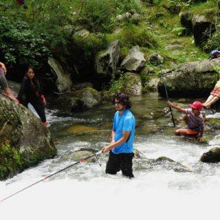 Fishing at Beas River Kullu Manali