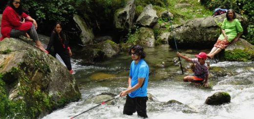 Fishing at Beas River Kullu Manali