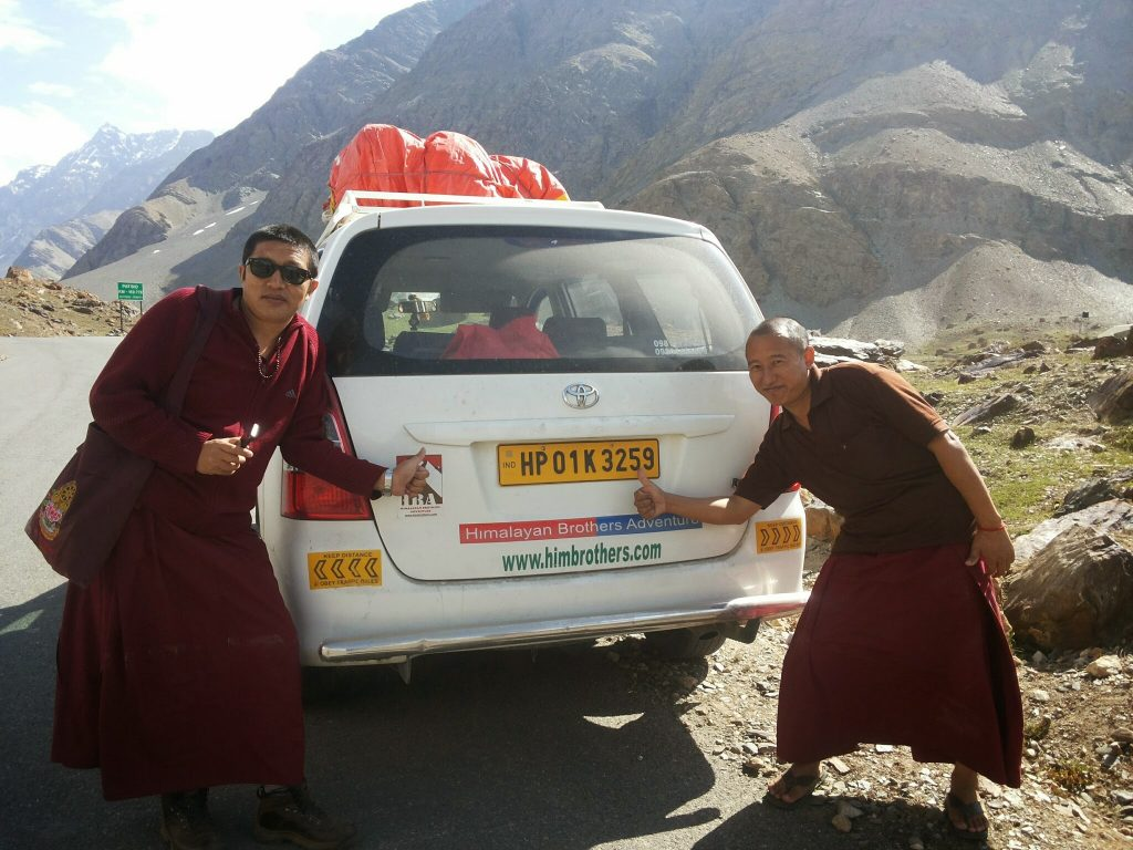 On the way Ladakh Monk