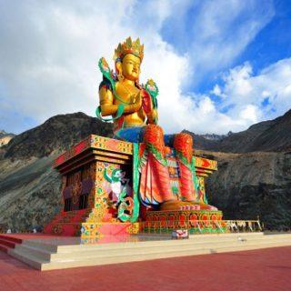 Maitreya Buddha in Nubra valley Ladakh