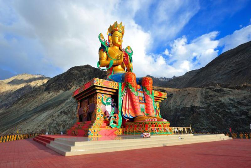Maitreya Buddha in Nubra valley