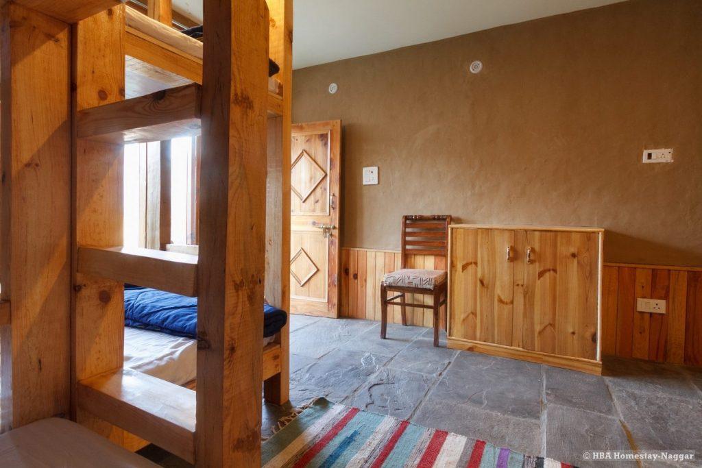 Bunk beds HBA Homestay Naggar Kullu/Manali Himachal Pradesh